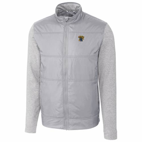CUTTER & BUCK ケンタッキー ステルス 灰色 グレー グレイ メンズファッション コート ジャケット メンズ 【 Kentucky Wildcats Cutter And Buck Big And Tall Stealth Full-zip Jacket - Gray 】 Gray