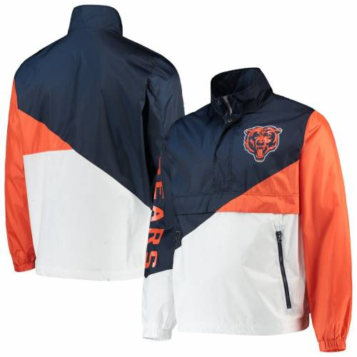 G-III SPORTS BY CARL BANKS シカゴ ベアーズ チーム メンズファッション コート ジャケット メンズ 【 Chicago Bears Double Team Half-zip Pullover Jacket - Navy/white 】 Navy/white