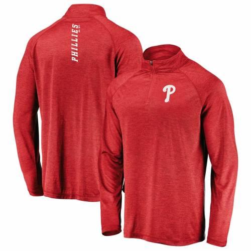 マジェスティック MAJESTIC フィラデルフィア フィリーズ 赤 レッド メンズファッション コート ジャケット メンズ 【 Philadelphia Phillies Contenders Welcome Quarter-zip Mock Neck Pullover Jacket - Red 】 Re
