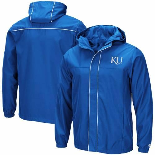 COLOSSEUM カンザス メンズファッション コート ジャケット メンズ 【 Kansas Jayhawks Giant Slalom Full-zip Jacket - Royal 】 Royal