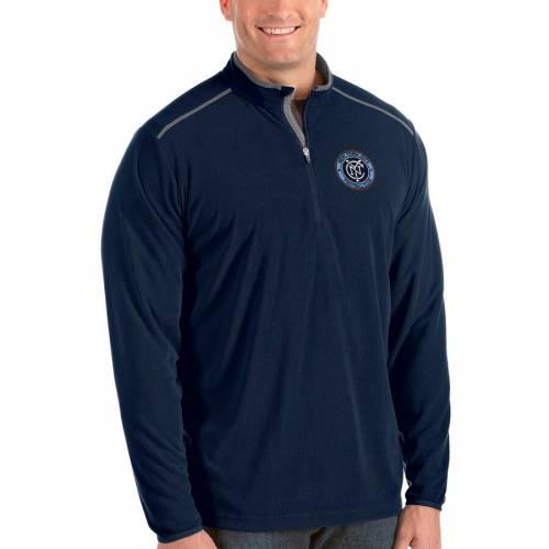 ANTIGUA シティ 紺 ネイビー メンズファッション コート ジャケット メンズ 【 New York City Fc Big And Tall Glacier Quarter-zip Pullover Jacket - Navy 】 Navy