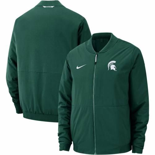 ナイキ NIKE ミシガン スケートボード 緑 グリーン メンズファッション コート ジャケット メンズ 【 Michigan State Spartans Shield Champ Drive Full-zip Bomber Jacket - Green 】 Green