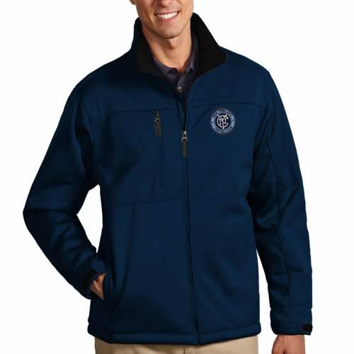 ANTIGUA シティ 紺 ネイビー メンズファッション コート ジャケット メンズ 【 New York City Fc Traverse Full Zip Jacket - Navy 】 Navy