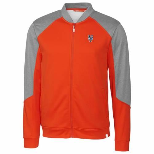 CUTTER & BUCK メッツ 橙 オレンジ メンズファッション コート ジャケット メンズ 【 New York Mets Cutter And Buck Pop Fly Full-zip Jacket - Orange 】 Orange