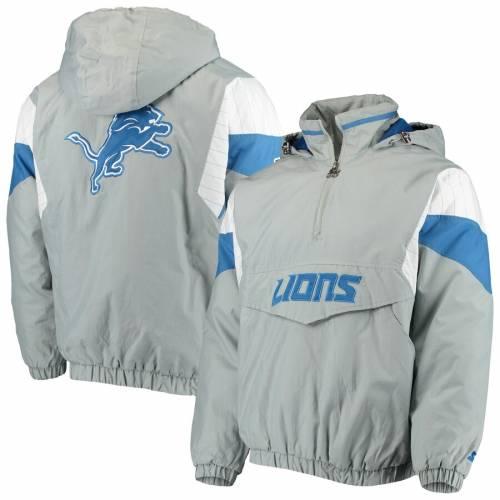 スターター STARTER デトロイト ライオンズ ナイト メンズファッション コート ジャケット メンズ 【 Detroit Lions Nfl 100 Thursday Night Lights Quarter-zip Breakaway Jacket - Gray/blue 】 Gray/blue