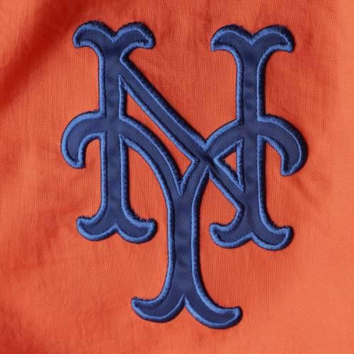 G-III SPORTS BY CARL BANKS メッツ ゲーム 橙 オレンジ メンズファッション コート ジャケット メンズ 【 New York Mets Starter Jet Game Half-zip Pullover Jacket - Orange 】 Orange