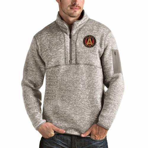 ANTIGUA アトランタ メンズファッション コート ジャケット メンズ 【 Atlanta United Fc Fortune Quarter-zip Pullover Jacket - Tan 】 Tan