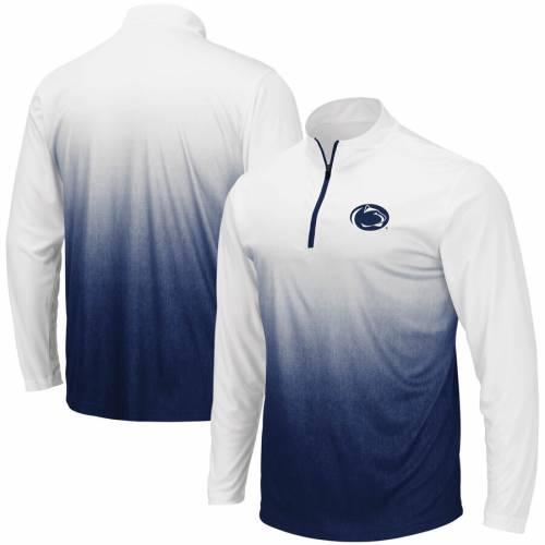 COLOSSEUM スケートボード ライオンズ マジック チーム ロゴ 灰色 グレー グレイ メンズファッション コート ジャケット メンズ 【 Penn State Nittany Lions Magic Team Logo Quarter-zip Jacket - Gray 】 Navy