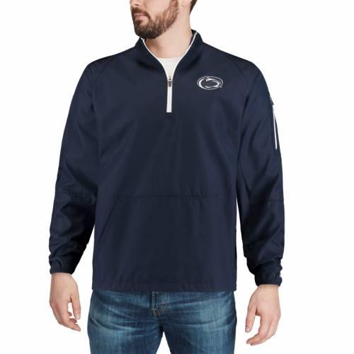 COLOSSEUM スケートボード ライオンズ 紺 ネイビー メンズファッション コート ジャケット メンズ 【 Penn State Nittany Lions Tips Half-zip Wind Jacket - Navy 】 Navy