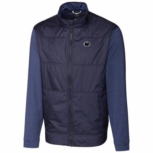 CUTTER & BUCK スケートボード ライオンズ ステルス 紺 ネイビー メンズファッション コート ジャケット メンズ 【 Penn State Nittany Lions Cutter And Buck Stealth Full-zip Jacket - Navy 】 Navy