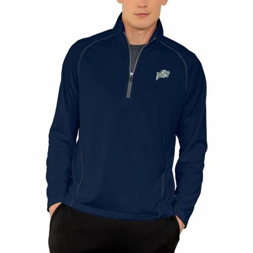 VANTAGE APPAREL 紺 ネイビー パフォーマンス メンズファッション コート ジャケット メンズ 【 Navy Midshipmen Vansport Performance Quarter-zip Pullover Jacket - Navy 】 Navy
