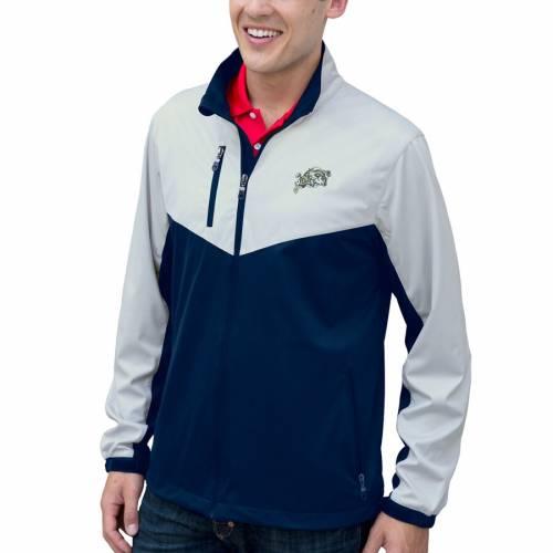 VANTAGE APPAREL 紺 ネイビー メンズファッション コート ジャケット メンズ 【 Navy Midshipmen Air-block Full-zip Jacket - Navy/silver 】 Navy/silver