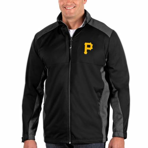 ANTIGUA ピッツバーグ 海賊団 黒 ブラック メンズファッション コート ジャケット メンズ 【 Pittsburgh Pirates Revolve Big And Tall Full-zip Jacket - Black 】 Black