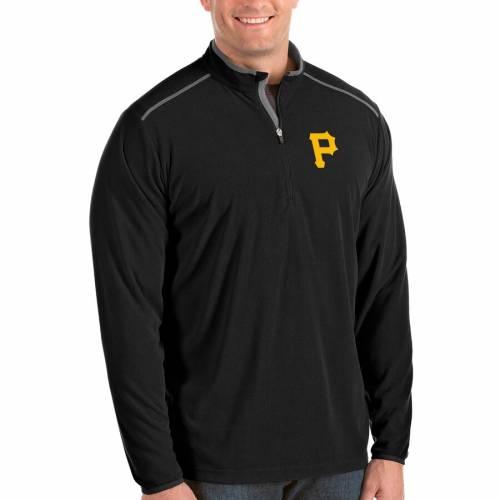 ANTIGUA ピッツバーグ 海賊団 黒 ブラック メンズファッション コート ジャケット メンズ 【 Pittsburgh Pirates Big And Tall Glacier Quarter-zip Pullover Jacket - Black 】 Black