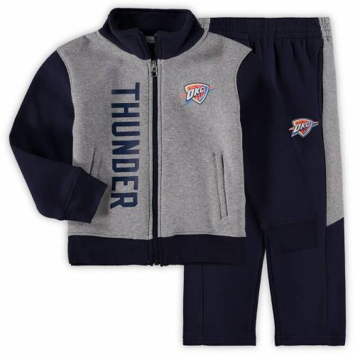 OUTERSTUFF シティ サンダー 男の子 女の子 子供用 フリース キッズ ベビー マタニティ ジュニア 【 Oklahoma City Thunder Preschool On The Line Fleece Jacket And Pants Set - Gray/navy 】 Gray/navy