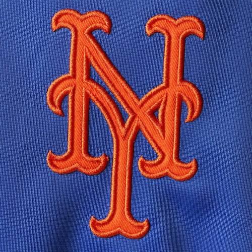 G-III SPORTS BY CARL BANKS メッツ ファスト トラック ラグラン 灰色 グレー グレイ メンズファッション コート ジャケット メンズ 【 New York Mets Fast Track Raglan Half-zip Pullover Jacket - Royal/heathered Gr