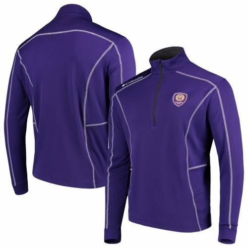 コロンビア COLUMBIA オーランド シティ 紫 パープル メンズファッション コート ジャケット メンズ 【 Orlando City Sc Shotgun Quarter-zip Pullover Jacket - Purple 】 Purple