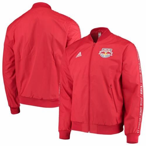 アディダス ADIDAS 赤 レッド ブルズ メンズファッション コート ジャケット メンズ 【 New York Red Bulls 2019 On-field Anthem Full-zip Jacket - Red 】 Red