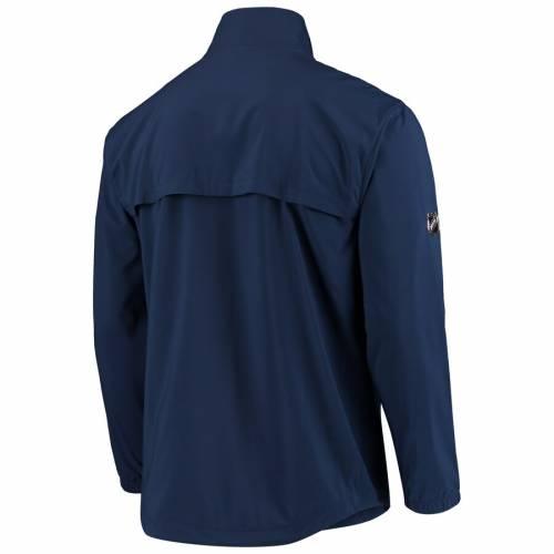 FANATICS BRANDED 青 ブルー ロゴ 紺 ネイビー メンズファッション コート ジャケット メンズ 【 Columbus Blue Jackets Alternate Logo Rinkside Mock Full-zip Jacket - Navy 】 Navy