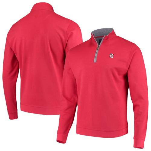 JOHNNIE-O カーディナルス 赤 レッド St. メンズファッション コート ジャケット メンズ 【 St. Louis Cardinals Sully Tri-blend Quarter-zip Pullover Jacket - Red 】 Red