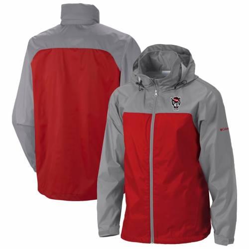 コロンビア COLUMBIA スケートボード 赤 レッド メンズファッション コート ジャケット メンズ 【 Nc State Wolfpack Glennaker Lake Ii Packable Rain Jacket - Red 】 Red