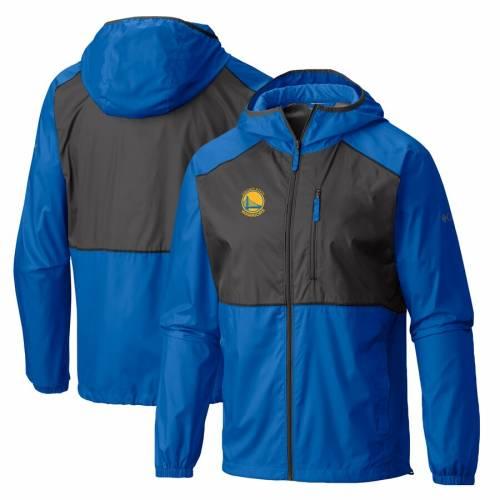 コロンビア COLUMBIA スケートボード ウォリアーズ ウィンドブレーカー メンズファッション コート ジャケット メンズ 【 Golden State Warriors Flash Forward Full-zip Windbreaker Jacket - Royal 】 Royal