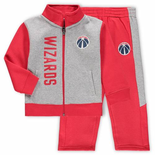 OUTERSTUFF ワシントン ウィザーズ ベビー 赤ちゃん用 フリース キッズ マタニティ ジュニア 【 Washington Wizards Toddler On The Line Fleece Jacket And Pants Set - Gray/red 】 Gray/red