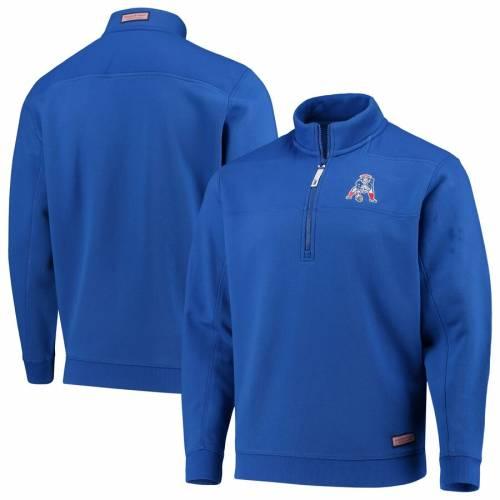 VINEYARD VINES ペイトリオッツ メンズファッション コート ジャケット メンズ 【 New England Patriots Collegiate Throwback Shep Shirt Quarter-zip Jacket - Royal 】 Royal