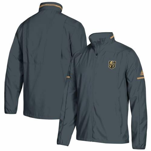 アディダス ADIDAS 灰色 グレー グレイ メンズファッション コート ジャケット メンズ 【 Vegas Golden Knights Rink Full-zip Jacket - Gray 】 Gray