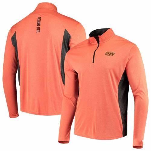 COLOSSEUM スケートボード カウボーイズ メンズファッション コート ジャケット メンズ 【 Oklahoma State Cowboys Audible Quarter-zip Pullover Windshirt Jacket - Heathered Orange/black 】 Heathered Orange/black