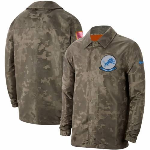 ナイキ NIKE デトロイト ライオンズ サイドライン メンズファッション コート ジャケット メンズ 【 Detroit Lions 2019 Salute To Service Sideline Full-snap Lightweight Jacket - Camo 】 Camo