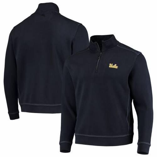 TOMMY BAHAMA カレッジ 紺 ネイビー メンズファッション コート ジャケット メンズ 【 Ucla Bruins College Sport Nassau Half-zip Pullover Jacket - Navy 】 Navy