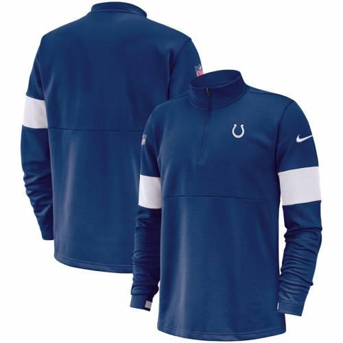 ナイキ NIKE インディアナポリス コルツ サイドライン パフォーマンス メンズファッション コート ジャケット メンズ 【 Indianapolis Colts Sideline Performance Half-zip Pullover Jacket - Royal 】 Royal