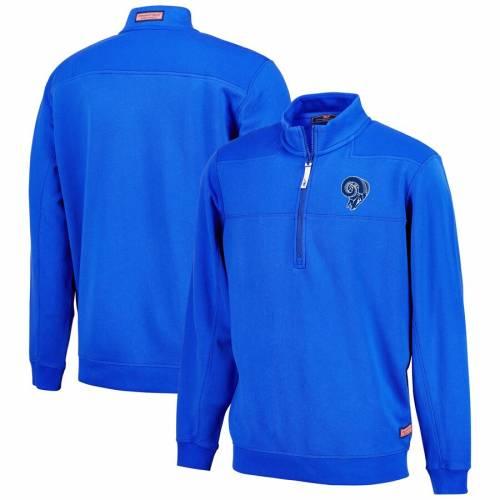 VINEYARD VINES ラムズ メンズファッション コート ジャケット メンズ 【 Los Angeles Rams Collegiate Throwback Shep Shirt Quarter-zip Jacket - Royal 】 Royal