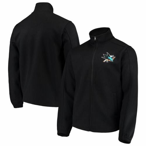 G-III SPORTS BY CARL BANKS 黒 ブラック メンズファッション コート ジャケット メンズ 【 San Jose Sharks Audible Full-zip Jacket - Black 】 Black