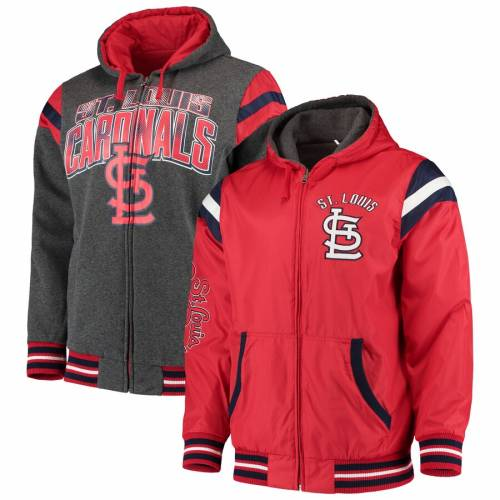 G-III EXTREME カーディナルス リバーシブル 赤 レッド St. メンズファッション コート ジャケット メンズ 【 St. Louis Cardinals Hardball Reversible Full-zip Hooded Jacket - Red 】 Red