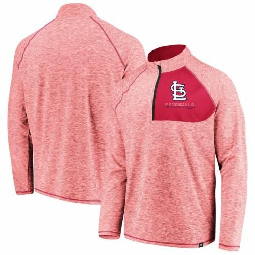 FANATICS BRANDED カーディナルス 赤 レッド St. メンズファッション コート ジャケット メンズ 【 St. Louis Cardinals Made 2 Move Quarter-zip Jacket - Red 】 Red