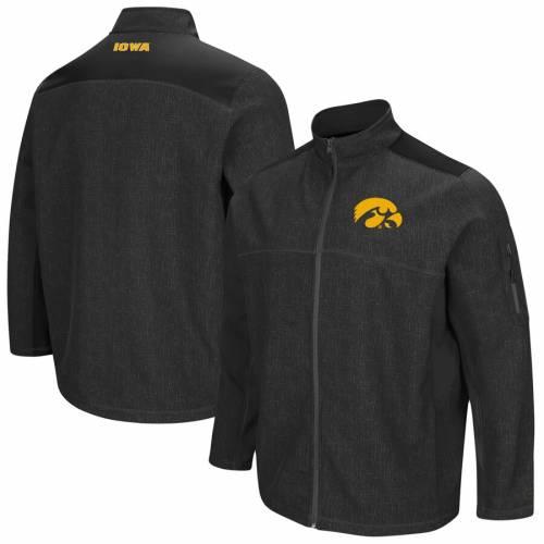 COLOSSEUM メンズファッション コート ジャケット メンズ 【 Iowa Hawkeyes Big And Tall Acceptor Full-zip Jacket - Charcoal/black 】 Charcoal/black