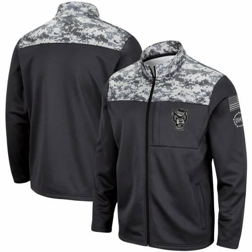 COLOSSEUM スケートボード フリース チャコール メンズファッション コート ジャケット メンズ 【 Nc State Wolfpack Oht Military Appreciation Fleece Full-zip Jacket - Charcoal 】 Charcoal