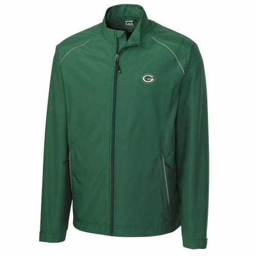 CUTTER & BUCK 緑 グリーン パッカーズ メンズファッション コート ジャケット メンズ 【 Green Bay Packers Cutter And Buck Weathertec Beacon Full Zip Jacket - Green 】 Green