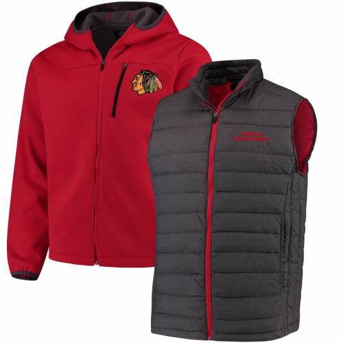 G-III SPORTS BY CARL BANKS シカゴ 赤 レッド メンズファッション コート ジャケット メンズ 【 Chicago Blackhawks Cold Front 3-in-1 Jacket - Red 】 Red