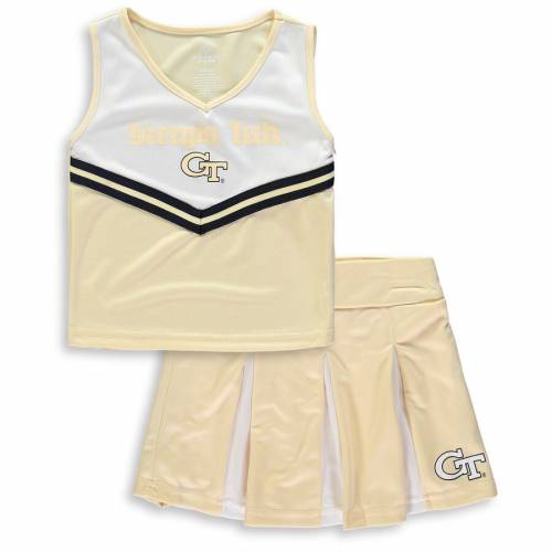 COLOSSEUM テック 黄色 イエロー 子供用 キッズ ベビー マタニティ ジュニア 【 Georgia Tech Yellow Jackets Youth Girls Pom Pom Cheer Set - Gold 】 Gold