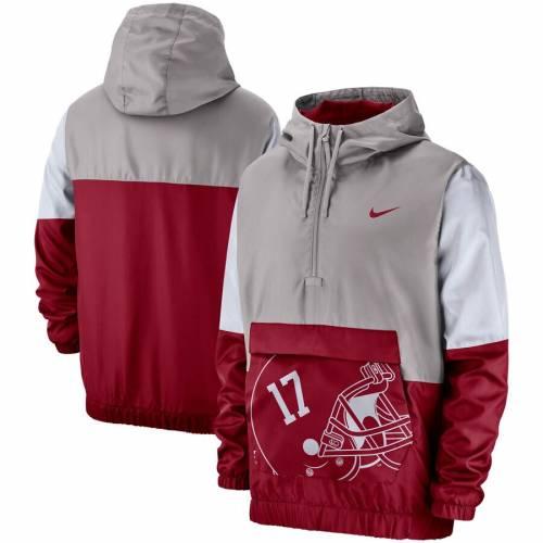 ナイキ NIKE アラバマ 灰色 グレー グレイ メンズファッション コート ジャケット メンズ 【 Alabama Crimson Tide Colorblock Anorak Quarter-zip Jacket - Gray 】 Gray