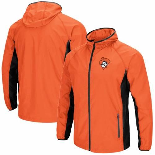 COLOSSEUM スケートボード カウボーイズ 橙 オレンジ メンズファッション コート ジャケット メンズ 【 Oklahoma State Cowboys Archer Full-zip Jacket - Orange 】 Orange