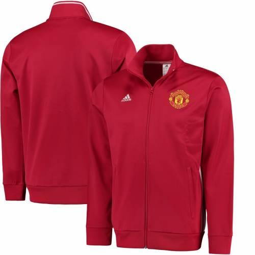 アディダス ADIDAS トラック 赤 レッド メンズファッション コート ジャケット メンズ 【 Manchester United 3s Full-zip Track Jacket - Red 】 Red