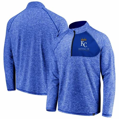 FANATICS BRANDED カンザス シティ ロイヤルズ メンズファッション コート ジャケット メンズ 【 Kansas City Royals Made 2 Move Quarter-zip Jacket - Royal 】 Royal