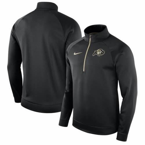 ナイキ NIKE コロラド パフォーマンス 黒 ブラック メンズファッション コート ジャケット メンズ 【 Colorado Buffaloes Performance Half-zip Pullover Jacket - Black 】 Black