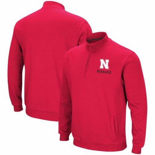 COLOSSEUM フリース メンズファッション コート ジャケット メンズ 【 Nebraska Cornhuskers Big And Tall Playbook Fleece Quarter-zip Pullover Jacket - Scarlet 】 Scarlet