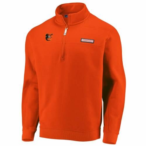 VINEYARD VINES ボルティモア オリオールズ 橙 オレンジ メンズファッション コート ジャケット メンズ 【 Baltimore Orioles Shep Shirt Quarter-zip Pullover Jacket - Orange 】 Orange