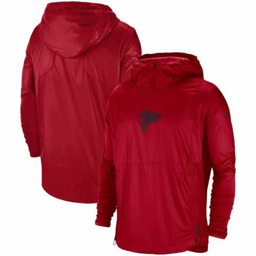 ナイキ NIKE アトランタ ファルコンズ サイドライン 赤 レッド メンズファッション コート ジャケット メンズ 【 Atlanta Falcons Sideline Repel Player Pullover Jacket - Red 】 Red
